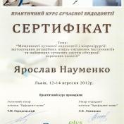 Науменко Ярослав Сергійович - фото сертифікату стоматолога 10