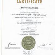Шульженко Дмитрий: сертификат фото 2
