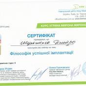 Шульженко Дмитрий: сертификат фото 7