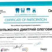 Шульженко Дмитрий: сертификат фото 8