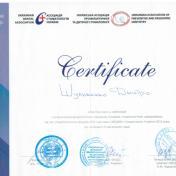 Шульженко Дмитрий: сертификат фото 9