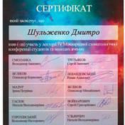 Шульженко Дмитрий: сертификат фото 12