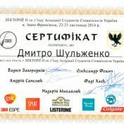 Шульженко Дмитрий: сертификат фото 14