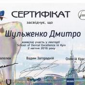 Шульженко Дмитрий: сертификат фото 21
