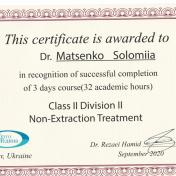 Сертификат ортодонта клиники ХэлсиДент Маценко Соломия фото 5