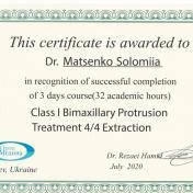 Сертификат ортодонта клиники ХэлсиДент Маценко Соломия фото 7