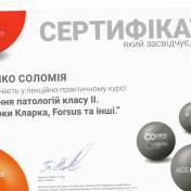 Сертификат ортодонта клиники ХэлсиДент Маценко Соломия фото 10