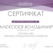 Алєксєєв Володимир Олександрович - фото сертифікату стоматолога 11